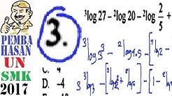 un SMK 2017 matematika ,pembahasaan no 3, nilai logaritma