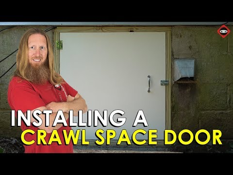 How To Install A Crawl Space Door | Crawl Space Door Installation Part 2 | Crawl Space Ninja