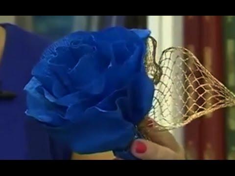 Оформление зала цветами из гофрированной бумаги своими руками 114