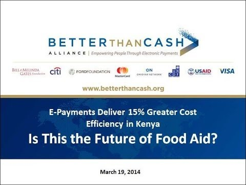 Webinar: E-Payments Deliver 15% Greater Efficiency in Kenya -- Is This the Future of Food Aid?