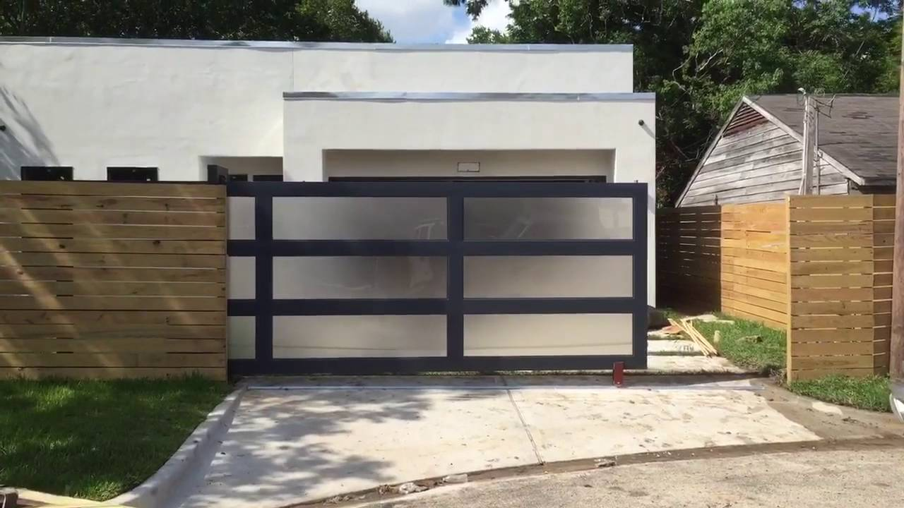 Modern sliding gate youtube - Sliding main gate design for home ...