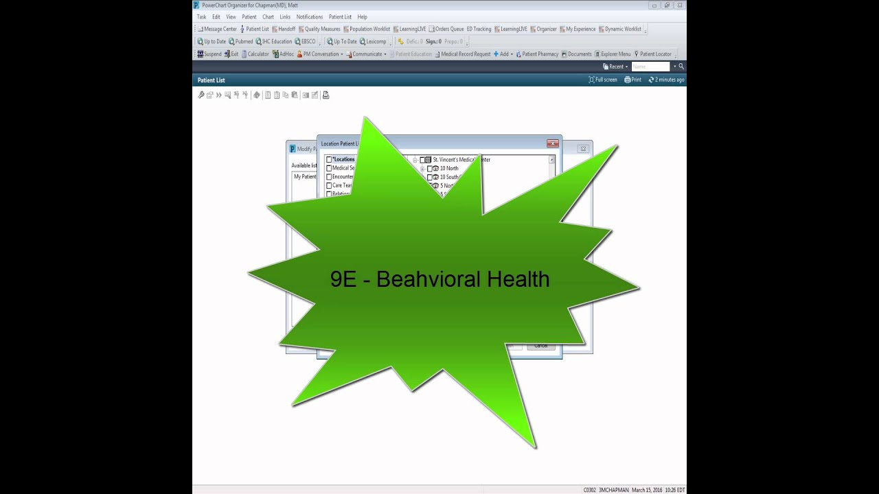 Onechart General Access And Patient List Creation