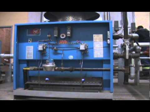 Start up and shut down of a 1,320,000 BTU Superhot gas boiler.
