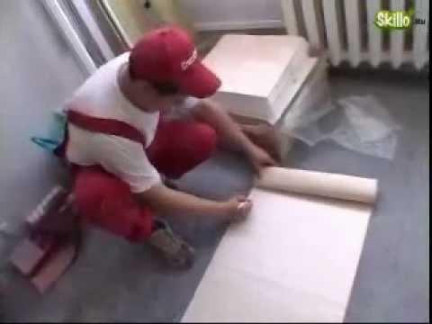 Оклейка потолка обоями видео