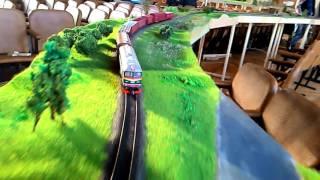 Выставка КМ октябрь 2015 товарняк. Caro train H0 scale at KyivModule exhibition 2015