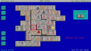 Mah Jongg Solitaire (Arcanum Computing, Nels Anderson) (MS-DOS) [1987] [PC Longplay]