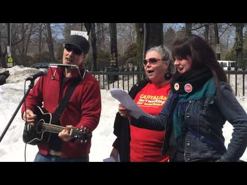 "Solidariglee sings Patti Smith's ""People Have The Power"" at Halifax Climate Justice Rally"