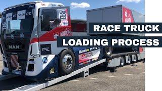 Loading of a 5.3 tonnes, 1,200 HP Race Truck
