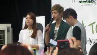 [Fancam] 2011.08.19 Kim Hyun Joong SG Fanmeeting - Entrance + Talk
