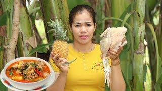 Amazing Cooking Chicken Sour Soup With Pineapple Recipe -  Chicken Soup Recipe -Village Food Factory