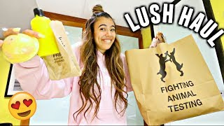 Spent $1,056 at Lush. Sister snapped for a sale. LUSH HAUL!