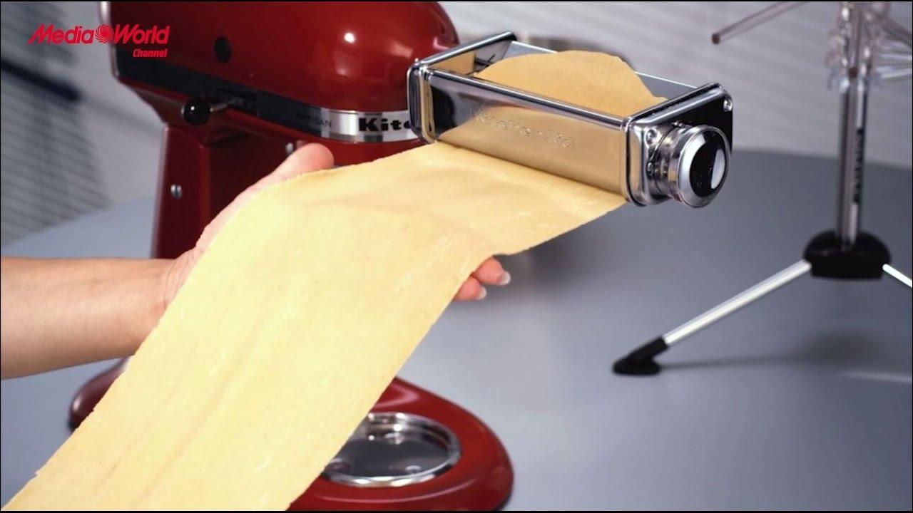kitchenaid artisan set pizza pasta recensione ita youtube. Black Bedroom Furniture Sets. Home Design Ideas