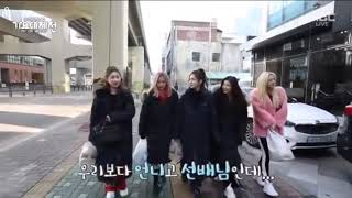 Itzy visting Cube Entertainment to meet Gidle