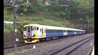 中央本線梁川駅を通過する希少な臨時の特急富士回遊E257系500番台