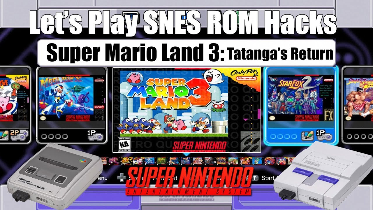 Let S Play Snes Rom Hacks Super Mario Land 3 Snes Mini Youtube
