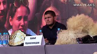 Khabib Nurmagomedov NEW Press-conference: Who`s better fighter Conor or Tony? Talks on his education