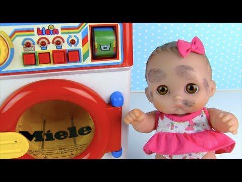 Куклы Пупсики ГРЯЗНУЛЬКИ Стираем Одежду в Стиральной Машинке Мультик Для детей Игрушки