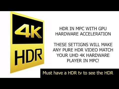I finally figured out HDR in MPC and GPU ACCELERATION
