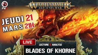 Live Lecture Analyse du battletome Blade Of Khorne