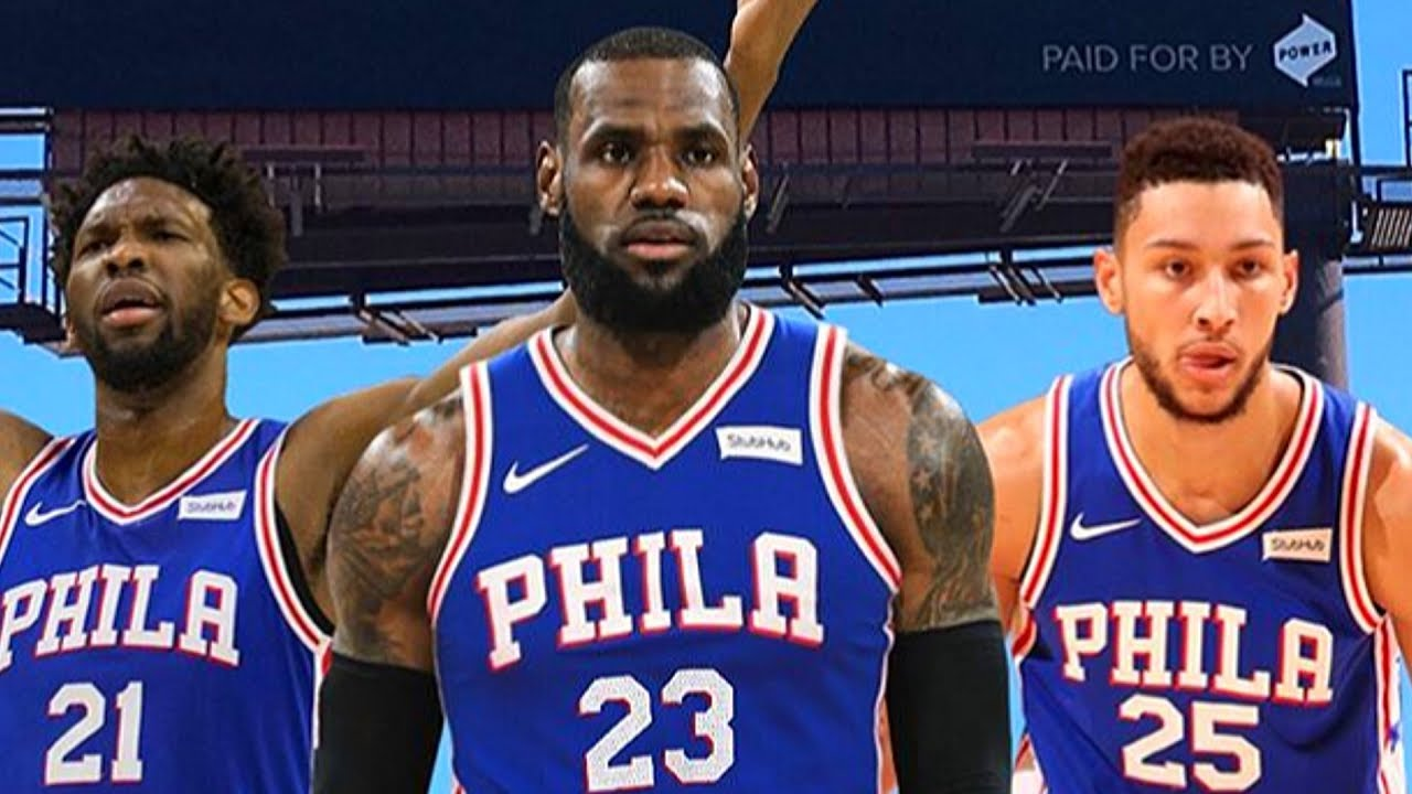 485c6aa10775 LeBron James Joining 76ers After Being Recruited By Philly Billboards in  Cleveland