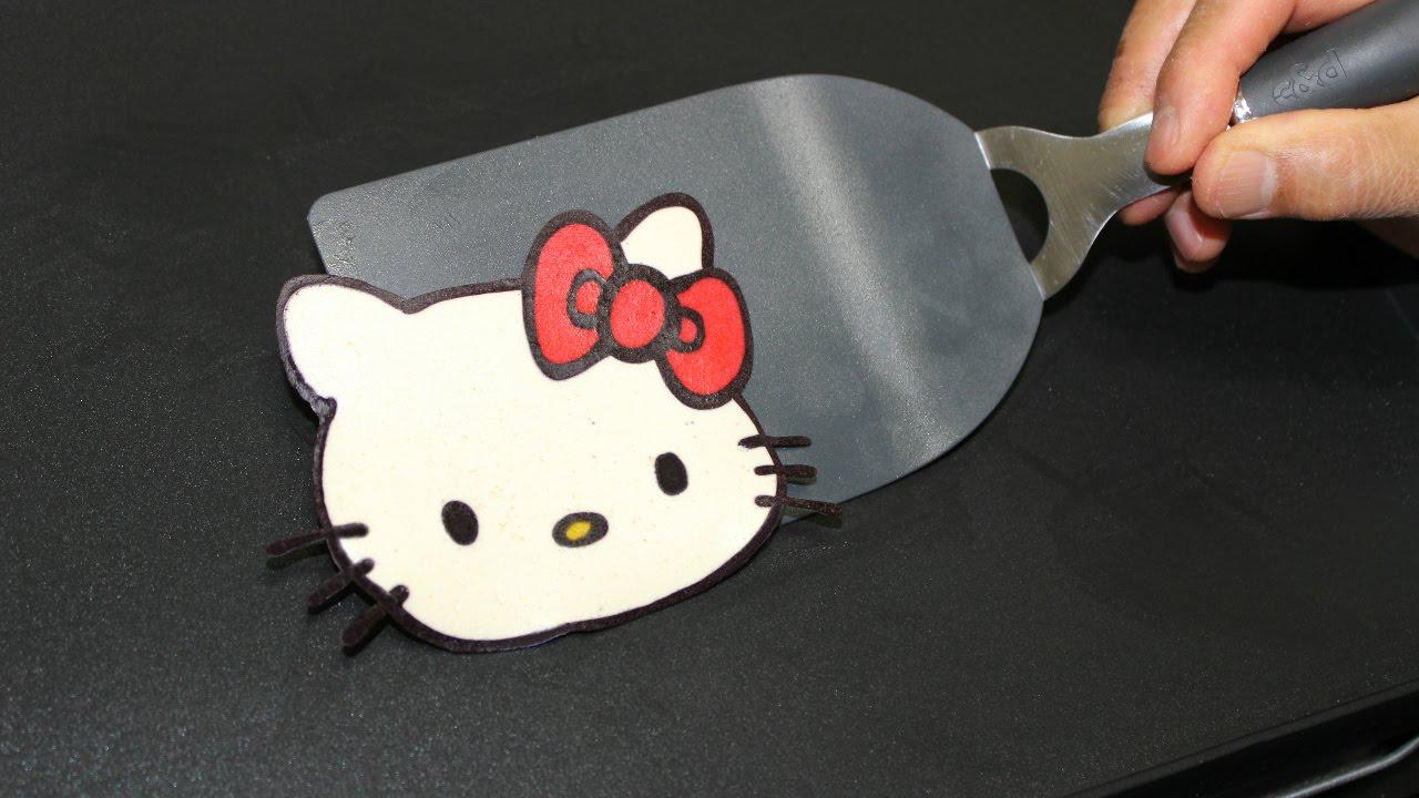 Pancake Art Hello Kitty Pan Cake By Tiger Tomato Youtube