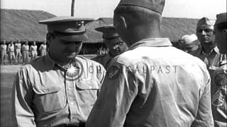 General Curtis Emerson Lemay presents awards to soldiers at Military Air Bases Kh...HD Stock Footage