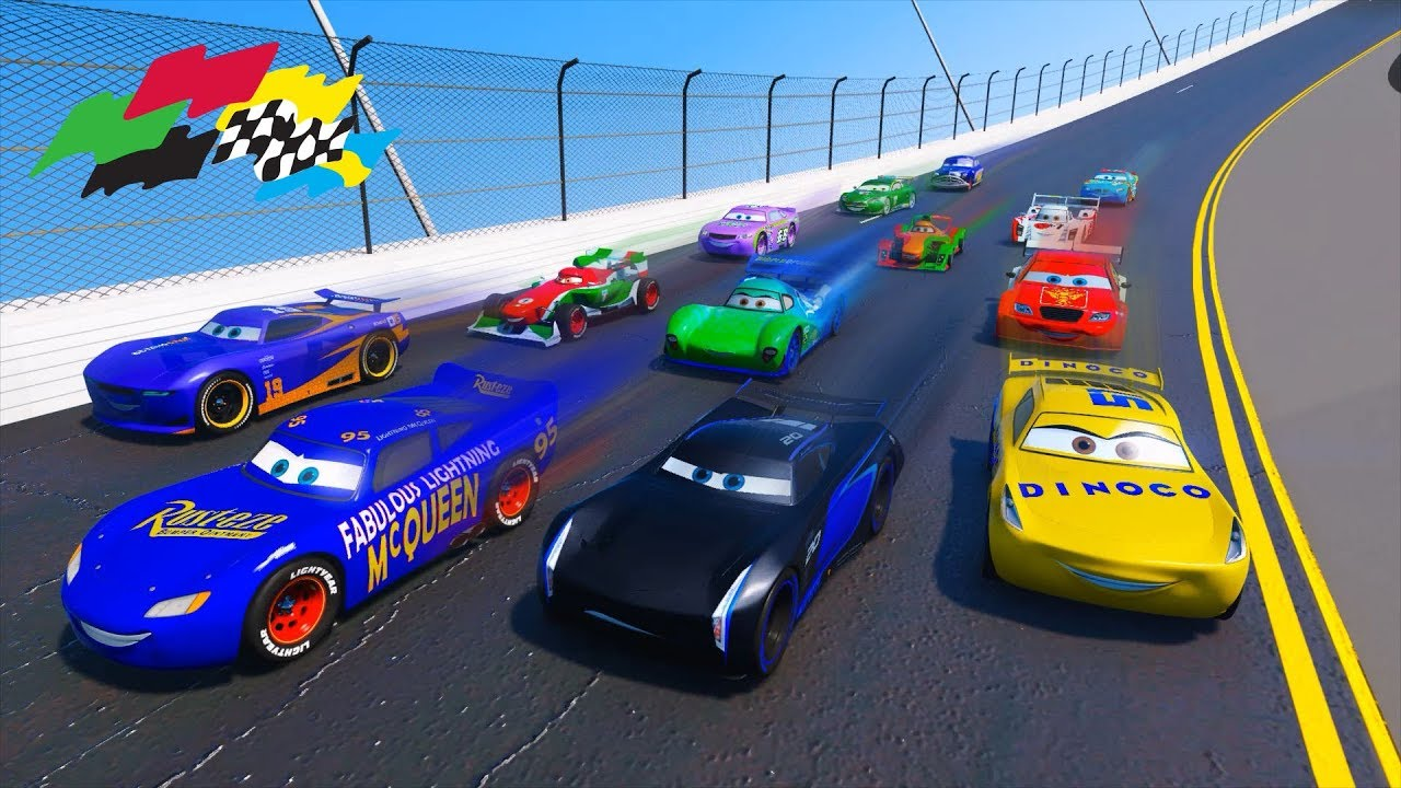 Race Cars Daytona Mcqueen