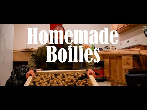 How To Make Homemade Boilies for Carp Fishing Nutty Mix
