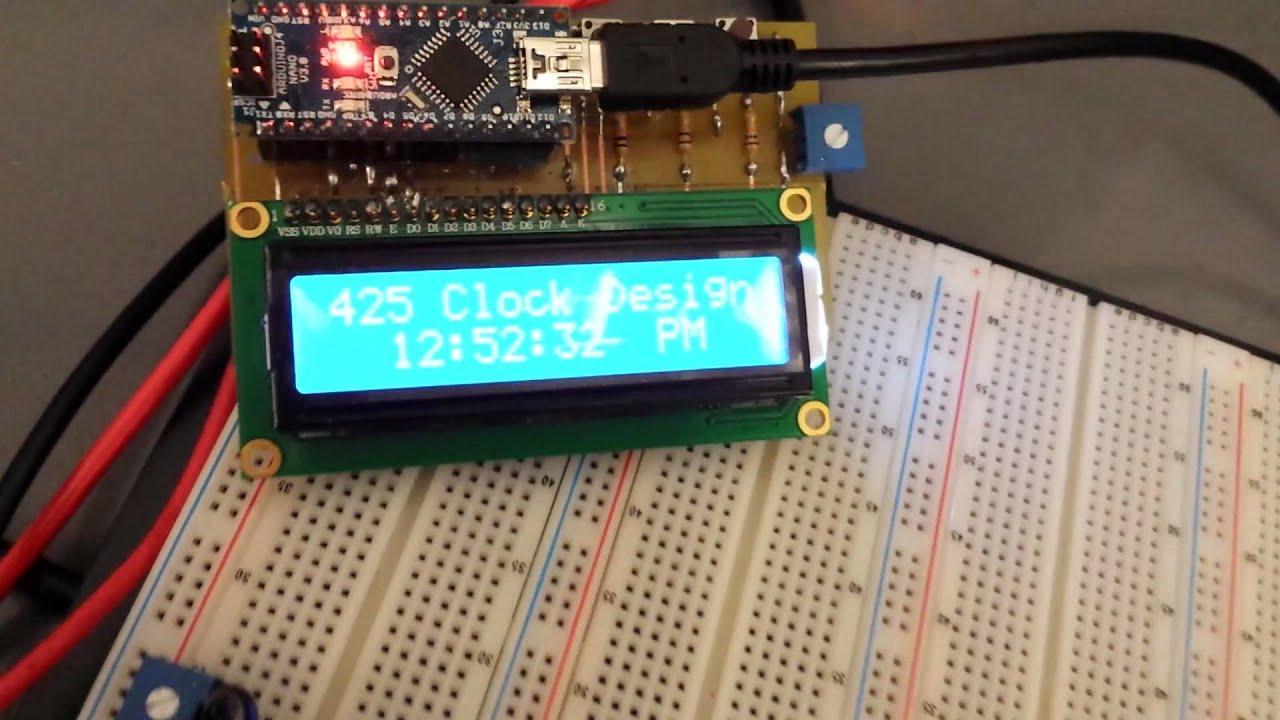 Arduino Nano V3 Digital Clock