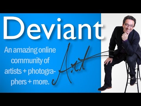 Deviantart.Com Art + Photography Online Community Video Tutorial with Deviant Art Comments