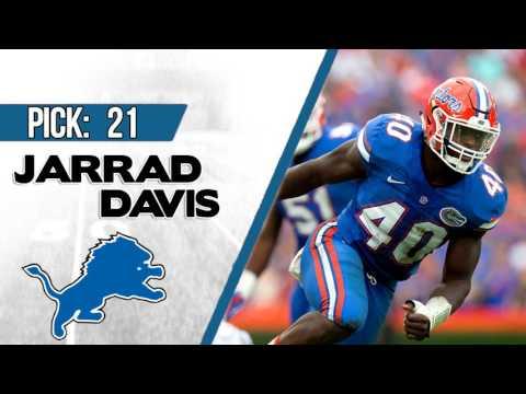 DETROIT LIONS SELECT JARRAD DAVIS 21ST OVERALL   2017 NFL DRAFT