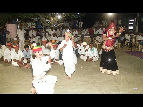 Gajendra ajmera live on New Rajasthani Song with super dance lilan and dhan dhan r Tejal #Tejanagar