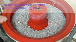 Industrial Tumbler Polisher Machine Vibratory Finishing Bowl