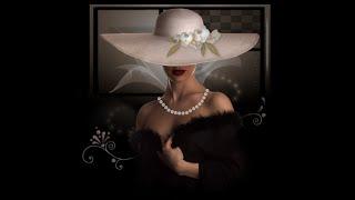 Распаковка алмазной мозаики с aliexpress/Картина дама в шляпе