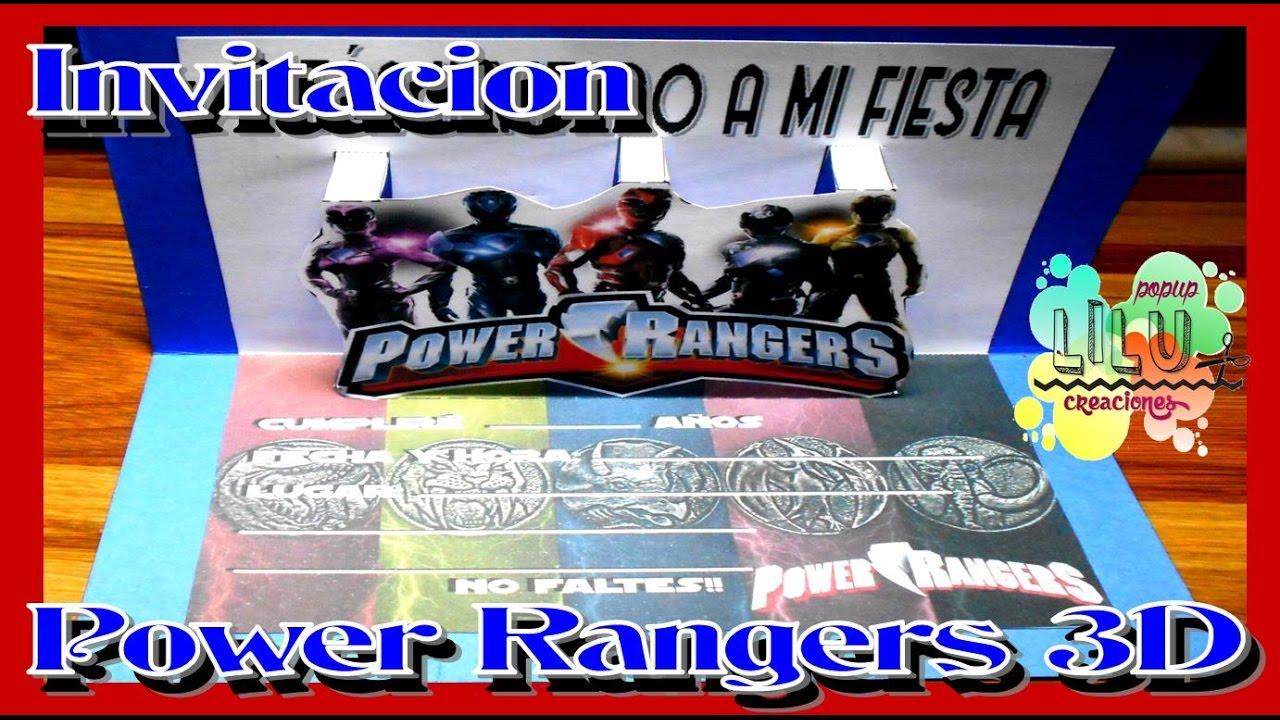 Como Hacer Una Invitación De Power Rangers