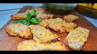 Необычные горячие бутерброды с сыром и беконом. Домашние рецепты.