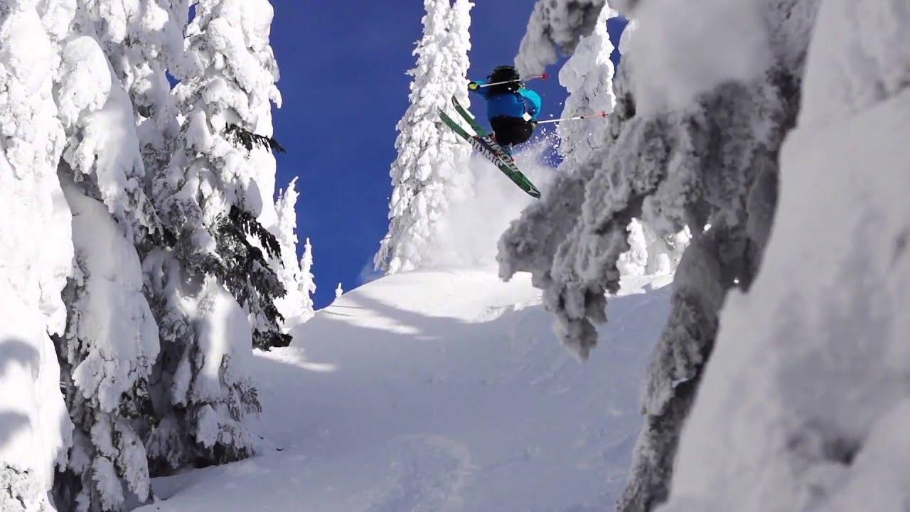 Красивое катание на горных лыжах