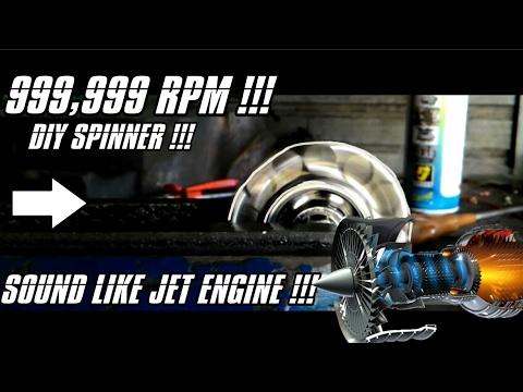 DIY SPINNER REACH 999,999 RPM!!! Sound Like Jet Engine...   Cara Membuat SPINNER!!