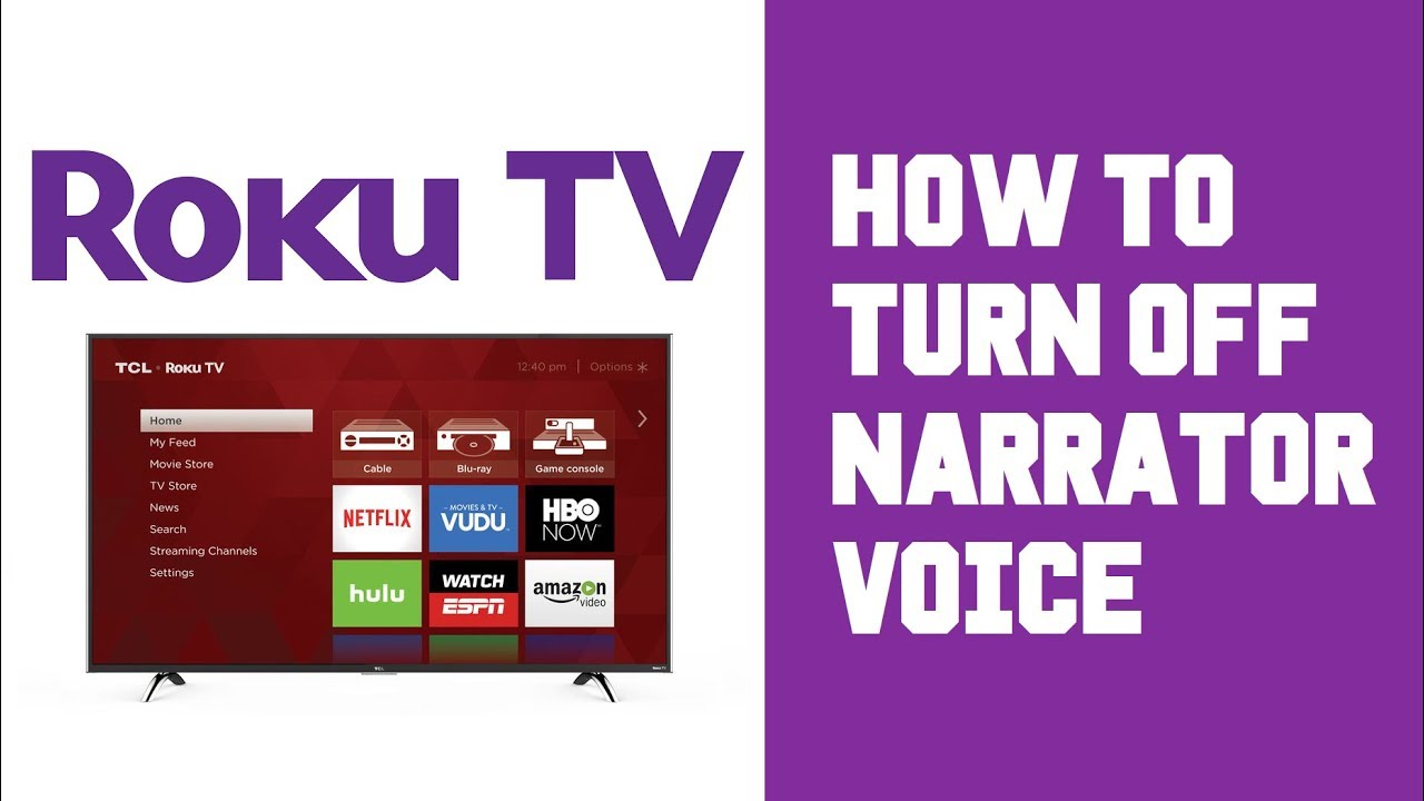 Roku TV How To Turn Off Voice - Roku TV Turn Off Narrator - Stop Audio  Voice Guide