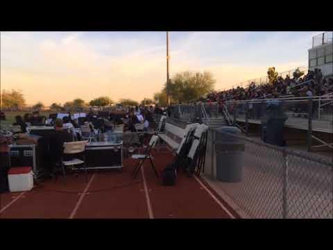 Sound Equipment Setup for Salt River High School Graduation on Football Field