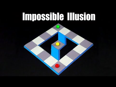 Impossible Optical Illusions Made with paper
