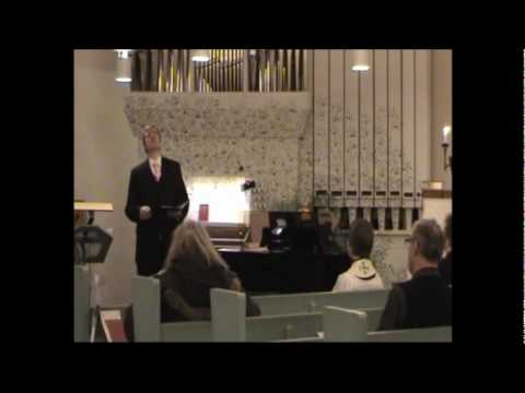 Glenn Bengtsson sings Star of Bethlehem by Adams in Gode Herden 2010