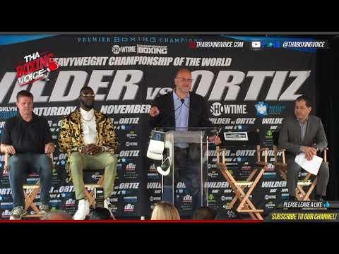 Deontay Wilder vs. Luis Ortiz Full New York Press Conference Heavyweight World Title Showdown