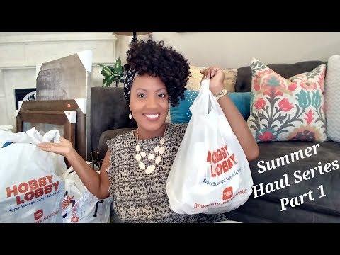 HUGE Hobby Lobby Haul  Summer Haul Series   Part 1