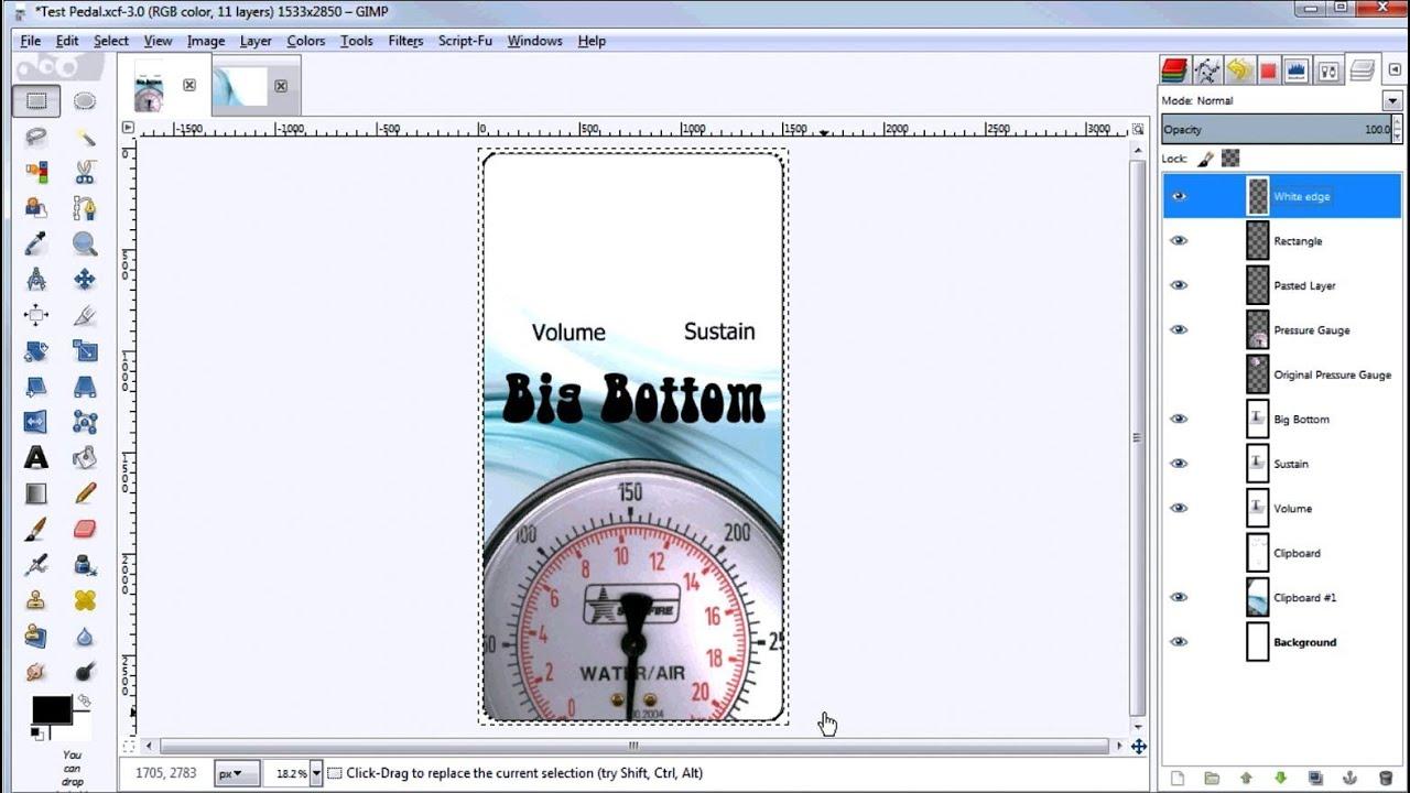 how to create an overlay using gimp