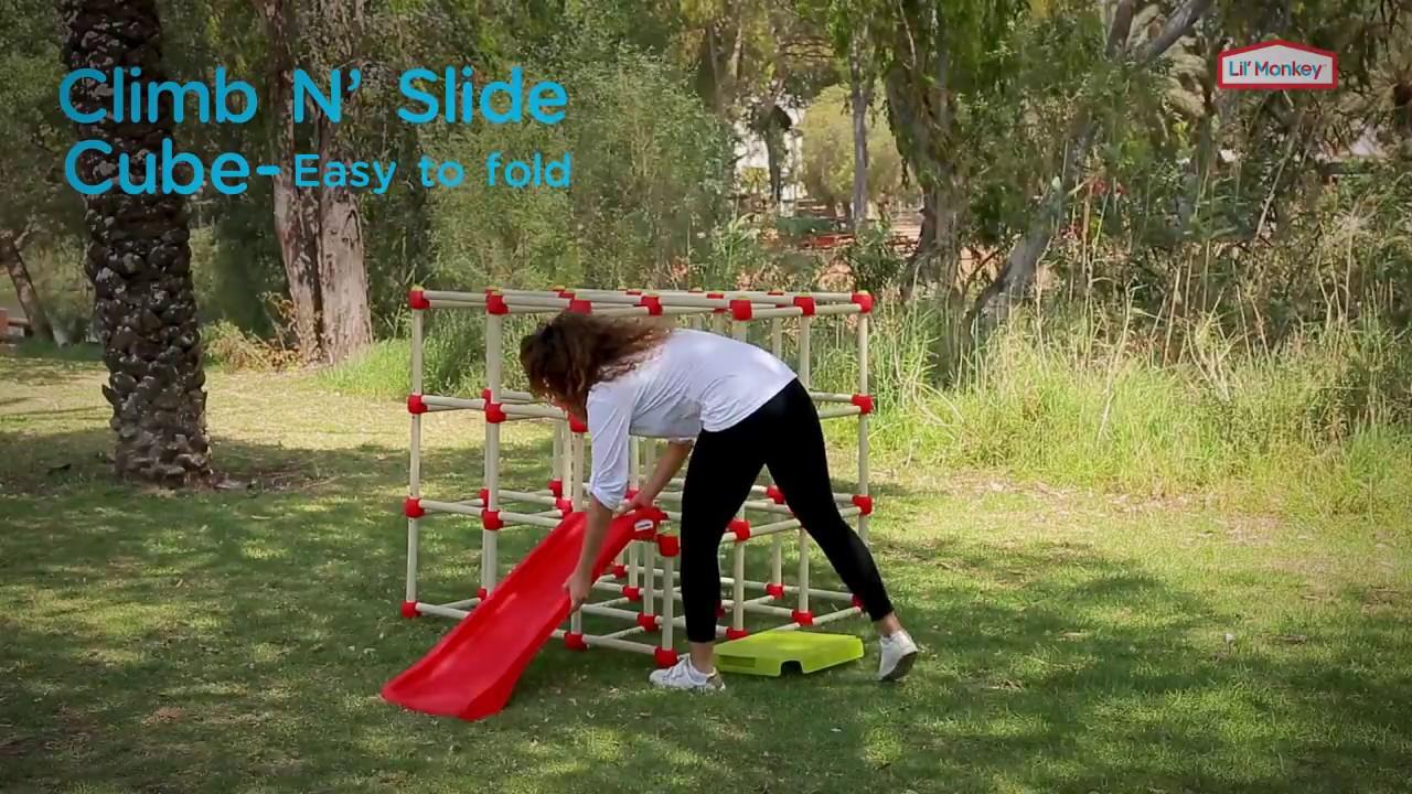lil monkey climb n slide cube instruction manual