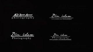 كيفية إنشاء التوقيع الخاصة بك التصوير الفوتوغرافي الشعار في PicsArt ل الدين الإسلام