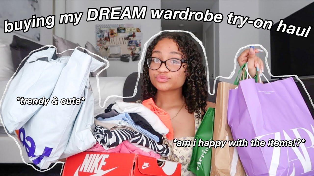 buying my DREAM wardrobe TRY-ON haul!! *shein,zara,garage,urban,brandymelville,etc*