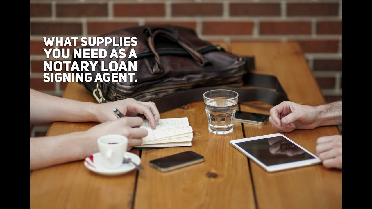 What Supplies Do You Need as a Notary Public Loan Signing Agent?