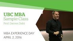 UBC MBA Experience Day 2016: Sample Marketing Class